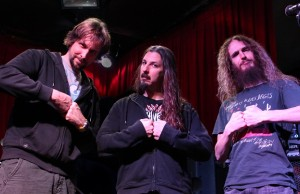 Marco Minnemann, Bryan Beller and Guthrie Govan of The Aristocrats
