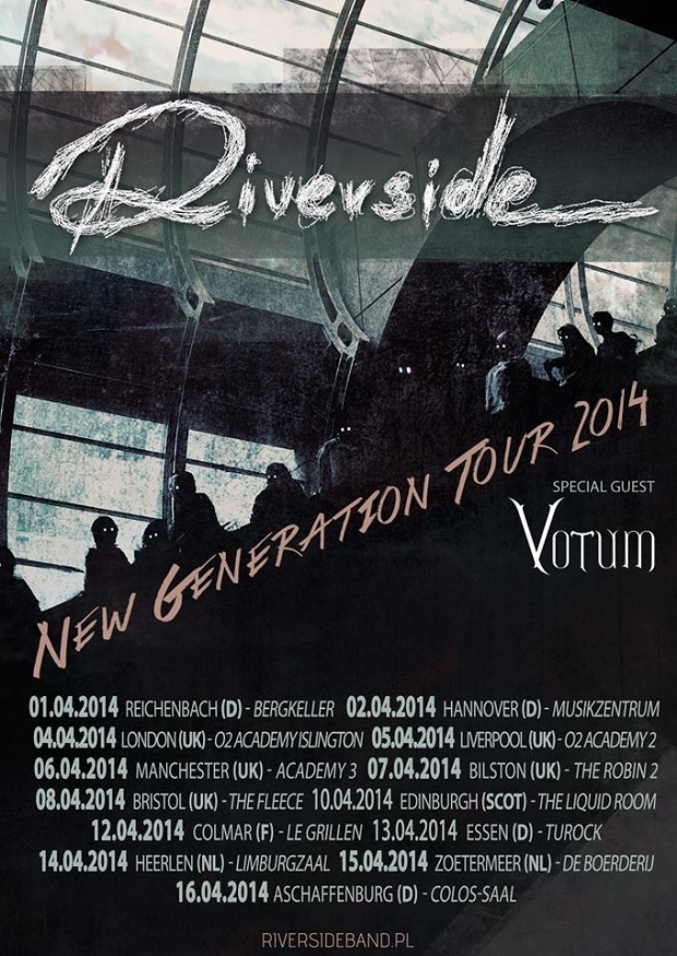 Riverside New Generation Tour 2014 poster