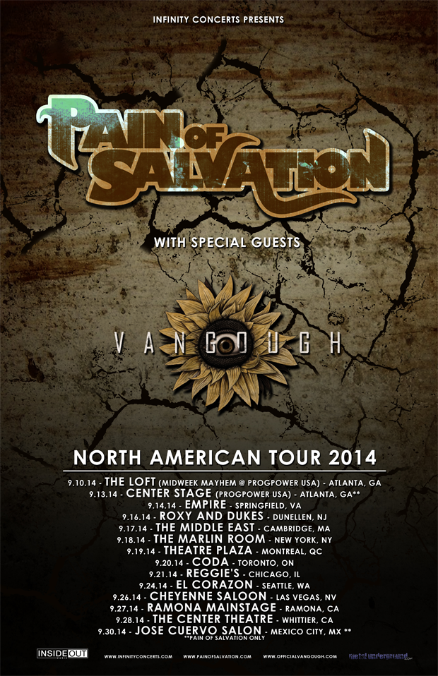 Pain of Saivation - Vangough North American tour poster