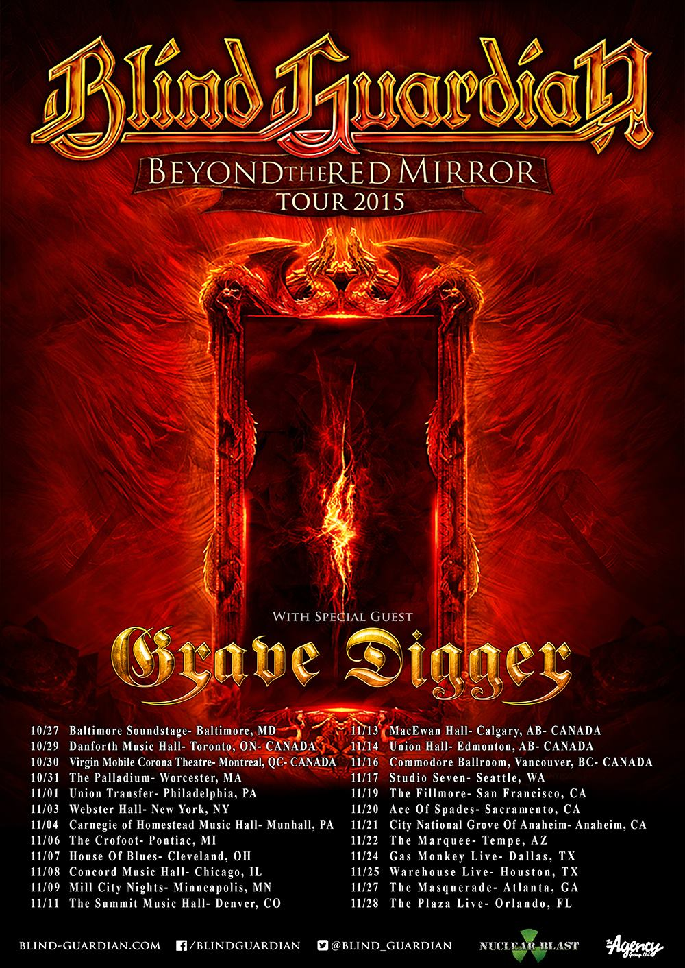 Blind Guardian - Beyond the Red Mirror Tour 2015